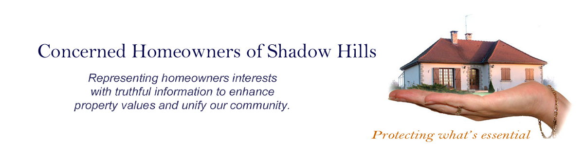 Concerned Homeowners of Shadow Hills